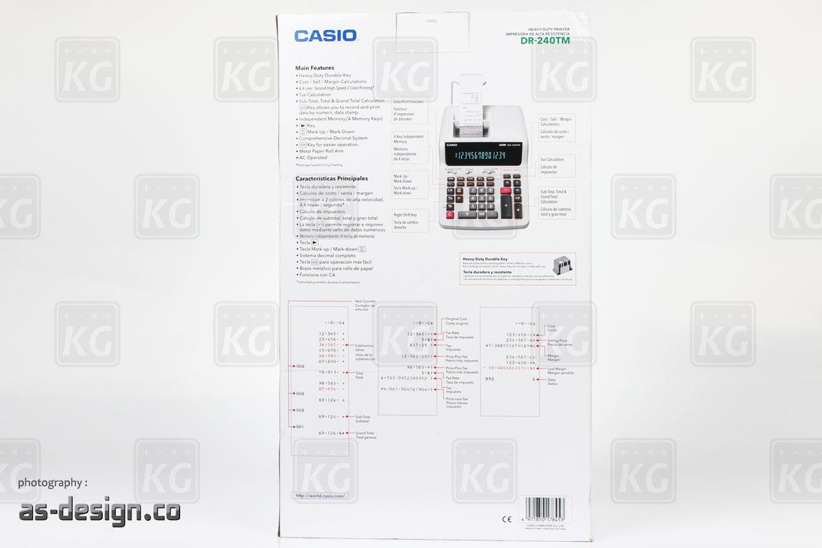 Casio Kalkulator Printing Casio DR 240TM