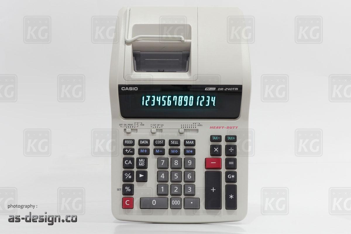 Casio Kalkulator Printing Casio DR 240TM Tampak Atas