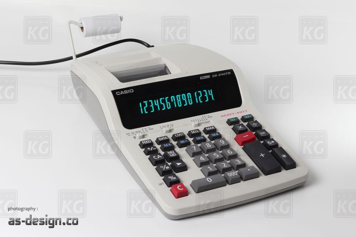 Casio Kalkulator Printing Casio DR 240TM Tampak Samping